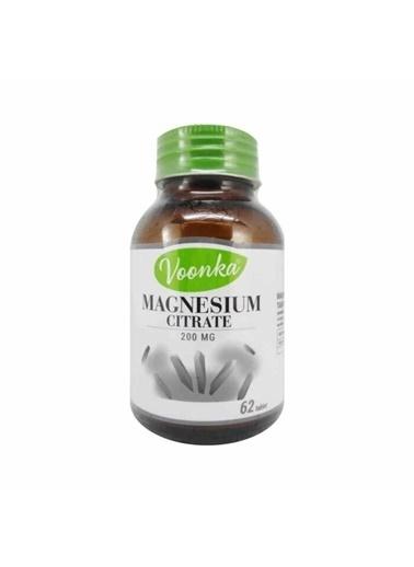 Voonka Voonka Magnesium Citrate Gıda Takviyesi 200 mg 62 Tablet Renksiz